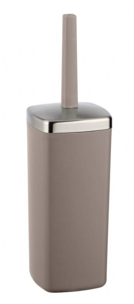 Wenko Barcelona Taupe Toilet Brush and Holder